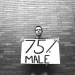 ... 75% were male ...