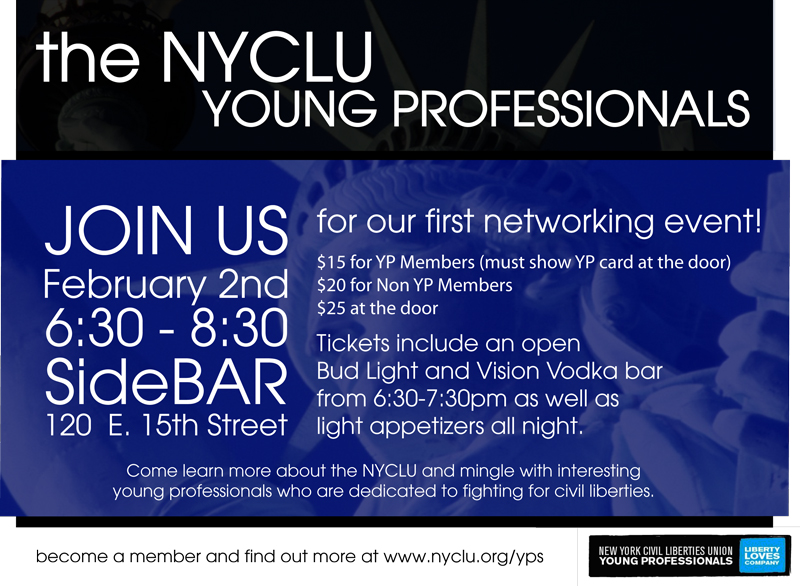NYC: NYCLU Young Professionals Host Their First Networking ...