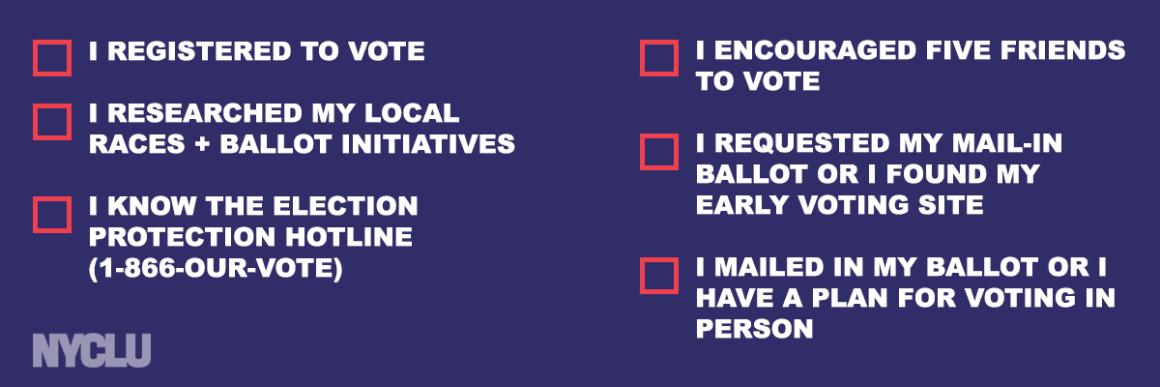 2020 Voting Checklist