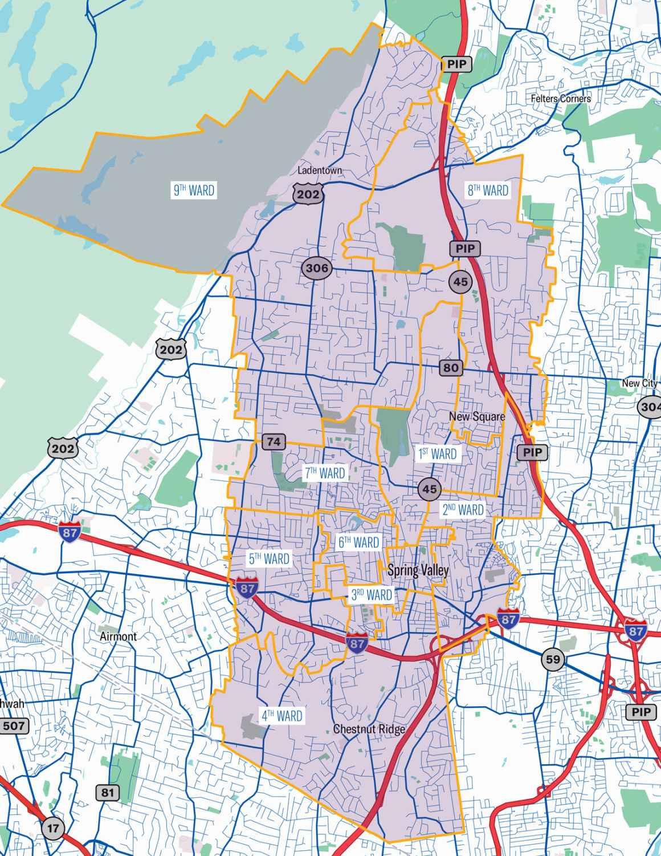 E. Ramapo Ward Map