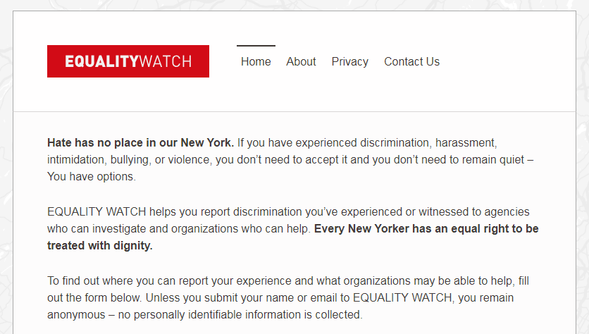 equality watch ny
